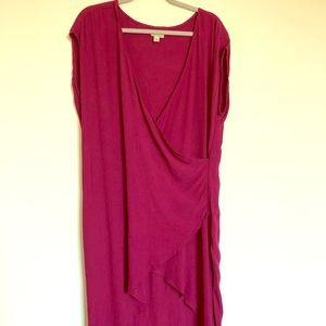 Anthropologie Dresses - Anthropologie midi wrap dress. Vintage look!